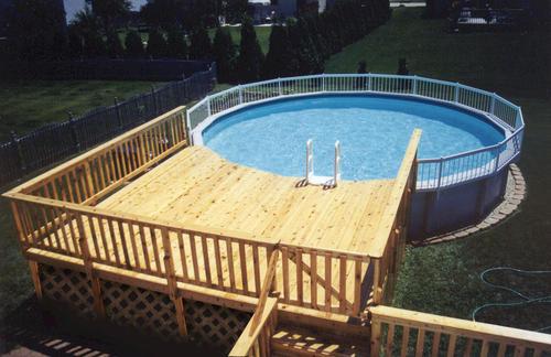 Above Ground Round Pool Deck Ideas