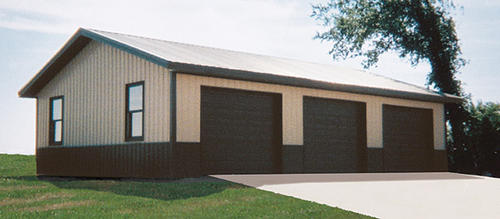 30 39 w x 40 39 l x 10 39 h garage with shingled roof at menards for 40x40 garage