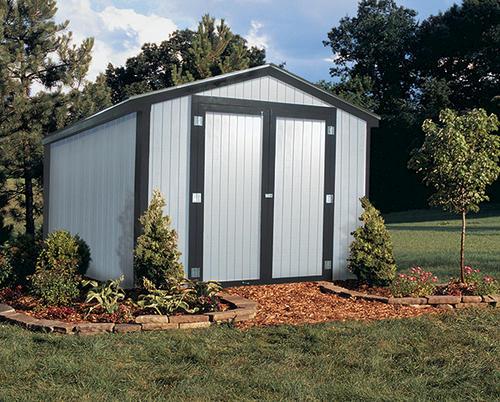 Midwest Manufacturing E Z Build 10 39 W X 20 39 D Gable Storage