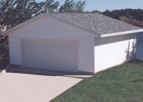24 39 x 30 39 x 8 39 2 car garage at menards for Pacchetto garage 24 x 30