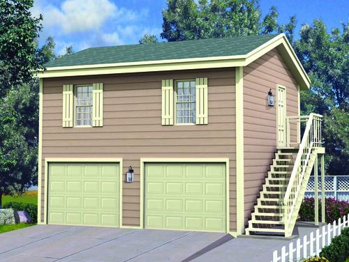 24 39 x 24 39 x 8 39 2 car apartment garage at menards for Cost of garage apartment construction