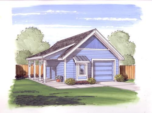 22 39 x 26 39 x 9 39 1 car garage with covered porch at menards for Garage plans with porch