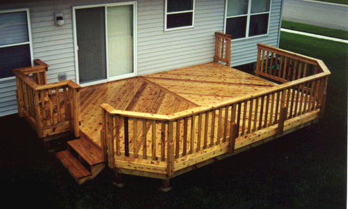 14 39 x 20 39 deck w grill bump out at menards for Garden decking kits b q