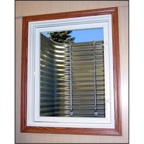 Corrugated Plastic Windows : Corrugated egress window well system at menards
