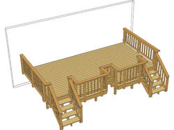 20' x 12' Deck w/ Notched Area