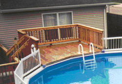 10' x 10' Platform Deck for a 21' Pool