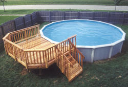 10' x 12' Leisure Deck for a 21' Pool