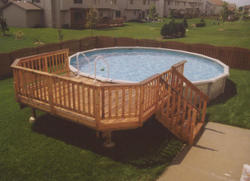 10' x 14' Leisure Deck for a 24' Pool