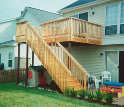 10' x 16' Elevated Deck w/ 4' Landing and Stairs