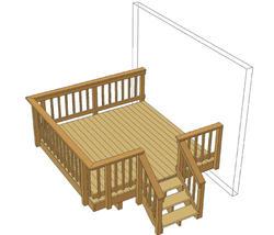 10' x 10' Single Level Deck w/ Aluminum Spindles