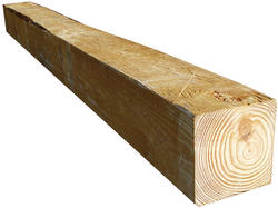 "6"" x 6"" x 8' Rough Sawn CS Red Pine Lumber"