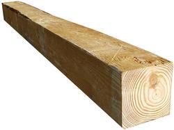 """6"""" x 6"""" x 10' Rough Sawn CS Red Pine Lumber"""