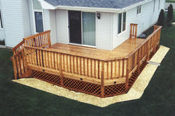 12' x 20' Main Deck w/ 6' x 10' Side Deck