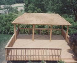 20' x 24' Deck w/ 10' x 20' Pavilion Roof