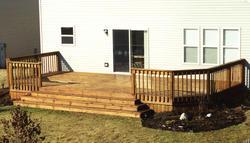 12' x 24' Deck w/ Wide Stairway