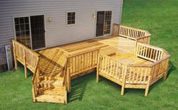 12' x 26' Deck w/ 10' x 10' Step-Down Picnic Area