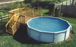 10' x 10' Leisure Deck for a 15' Pool