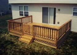 16' x 14' Leisure Deck w/ Lattice Apron