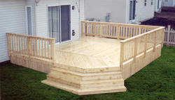 16' x 18' Deck w/ Solid Deck Board Apron