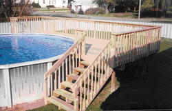 16' x 24' Pool Deck for a 21' Pool
