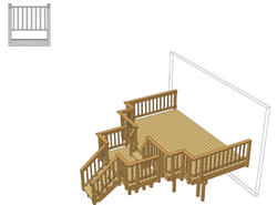 16' x 10' Deck w/ Landing