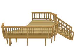 16' x 10' Pool Deck w/ Angled Corners