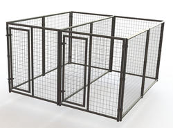 10' x 6' x 10' Double Run Powder-Coated Kennel