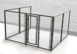 10' x 6' x 10' 3-Sided Powder-Coated Kennel