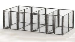 20' x 6' x 10' Powder-Coated Kennel