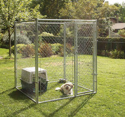 5' x 6' x 5' Galvanized Kennel