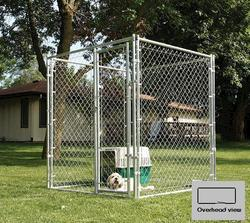 5' x 6' x 10' Galvanized Kennel