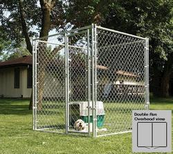 10' x 6' x 10' Double Run Galvanized Kennel