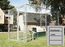 20' x 6' x 10' Galvanized Kennel