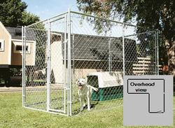 15' x 6' x 10' Galvanized Kennel