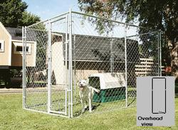 5' x 6' x 15' Galvanized Kennel