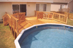 16' x 22' 2-Level Pool Deck for a 21' Pool