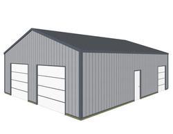 30'W x 40'L x 10.5'H Garage