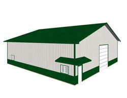 60'W x 60'L x 16' 6''H Garage