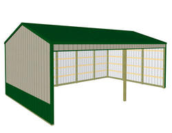 24'W x 40'L x 13'H Loafing Shed