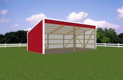 13'W x 27'L x 7'H Open Sided Shed