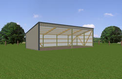 13'W x 36'L x 7'H Open Sided Shed