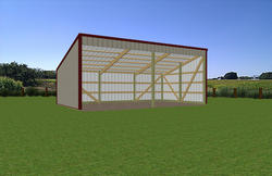 15'W x 27'L x 7'H Open Sided Shed