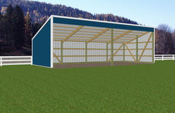 15'W x 36'L x 7'H Open Sided Shed