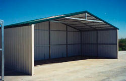 VersaTube 24'W x 12'L x 7.5'H Loafing Shed