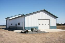 40'W x 54'L x 12'H Agricultural Tie-In Building with 40'W x 27'L x 16'H