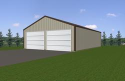 24'W x 32'L x 10.5'H Garage