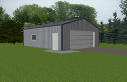 24'W x 28'L x 9'H Hobby Buildings