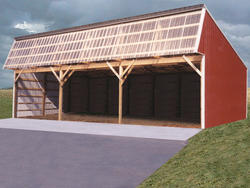 24'W x 54'L x 12'H Loafing Shed