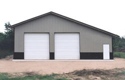 36'W x 45'L x 14'H Agricultural With 12' Closed Lean