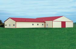40'W x 72'L x 12'H Workshop with 60'W x 90'L x 14'H Agricultural Tie-In Building